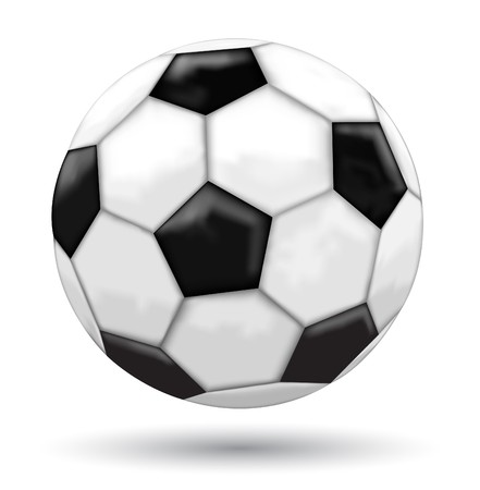 tourney: Classic mesh soccer ball isolated on the white background Illustration