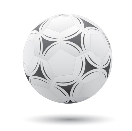 Classic soccer ball isolated on the white background