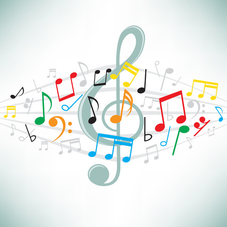 The classical music notes  Vettoriali