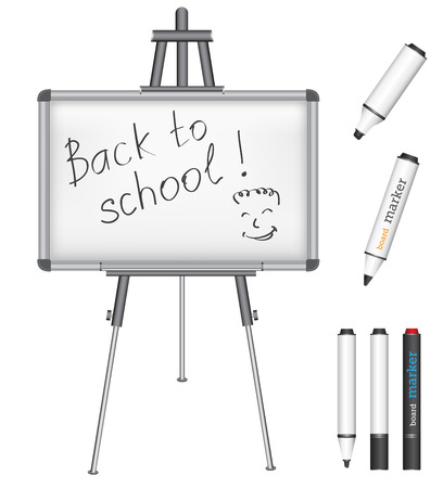 magnetic: the text back to school on a magnetic marker board