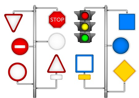 Empty forms for traffic signs and the semaphore Vector