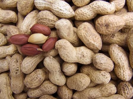 beautifu: Agricultural background, a pile of beautifu clearedl peanut
