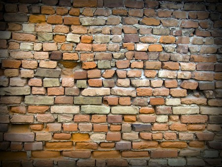 The old red brick wall with black framework Stock Photo - 8053899