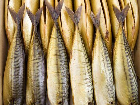 The beautiful big mackerels on a counter  photo