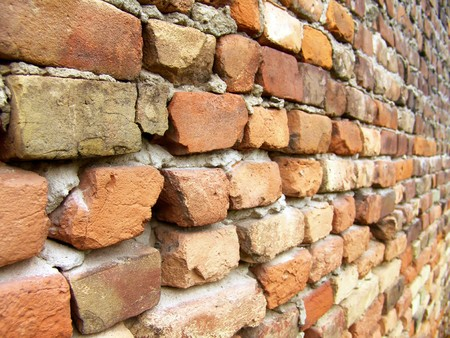 The old red brick macro wall Stock Photo - 8053900