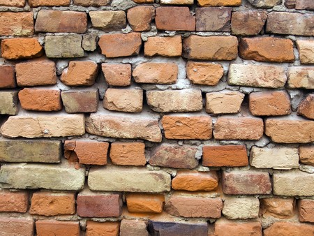 The old red brick wall background photo