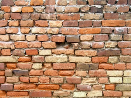 The old red brick wall background Stock Photo - 8053901