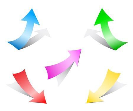 freccia giù: frecce di carta
