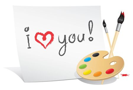 declaration of love: Valentine card of the artist