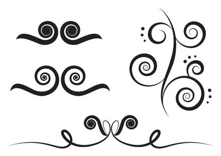 art deco background: art swirl