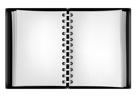 black notepad Vector
