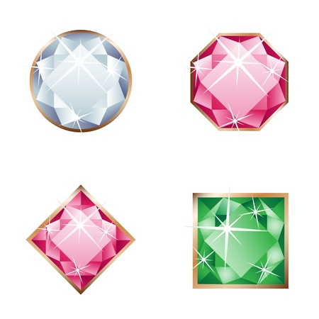 set of jewel Vector