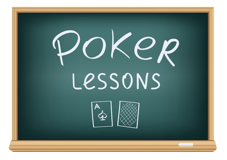 poker lessons in school Stock Vector - 8977551