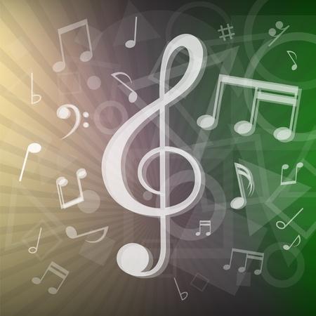 semibreve: modern music notes background