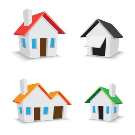 modern huis: pictogram introductiepagina Stock Illustratie