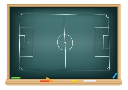 soccer field on the blackboard