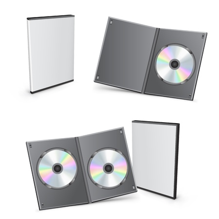 3d vector DVD boxes Vector