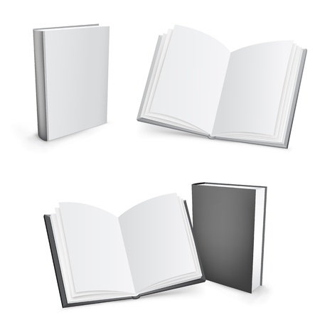 textbooks: 3d vector books Illustration