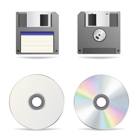 kilobyte: Optical and floppy disc