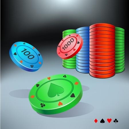 jetons poker: jetons de poker Illustration