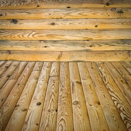 treated: The abstract background, pine floor and wall Stock Photo