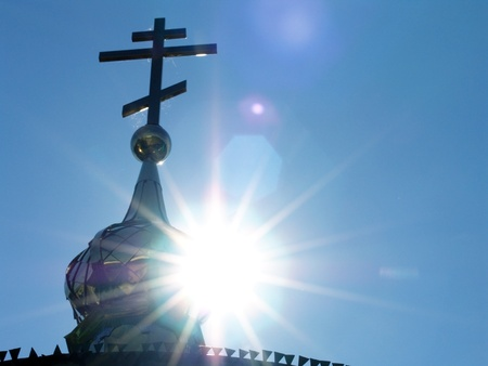 Church dome in sun rays Stock Photo - 11170085
