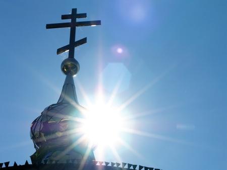Church dome in sun rays Stock Photo - 11170085