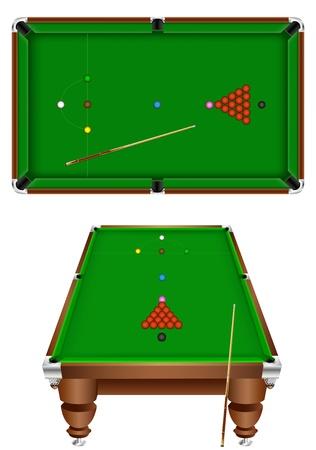 snooker table: snooker Illustration