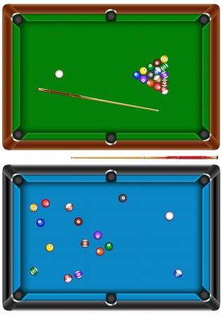 billiard table Vettoriali