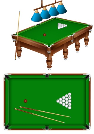 russian billiard Vector