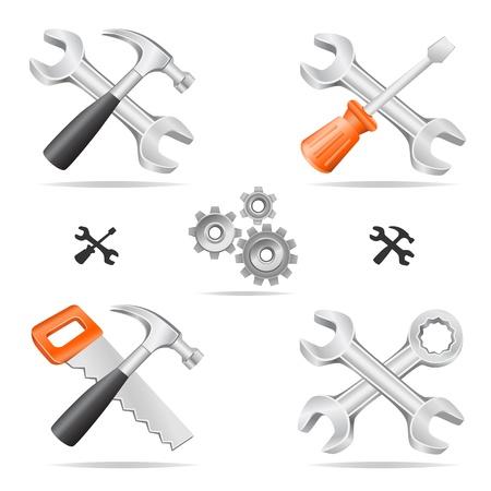gereedschap icon set