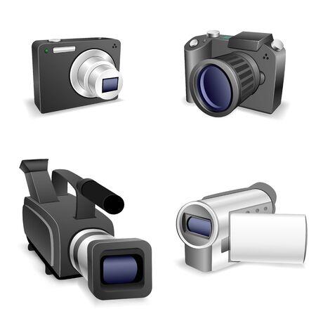 camera set Stock Vector - 14235844