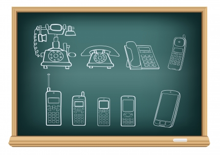 board phone evolution Vector