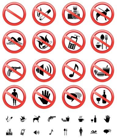interdiction telephone: signes interdits mis en