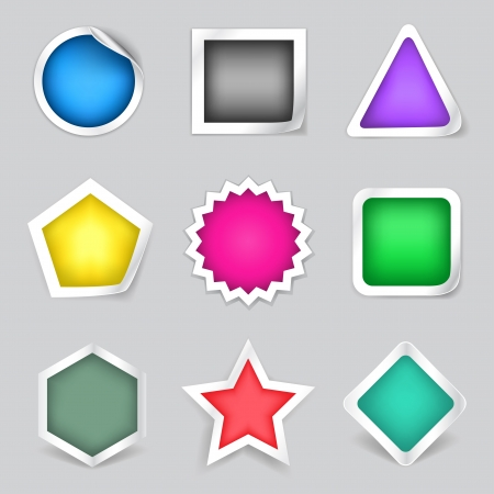 square shape: The stickers set suitable to show different advertisements messages