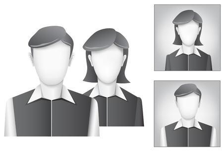 The default avatar, user profile picture on the white background Stock Vector - 15652680