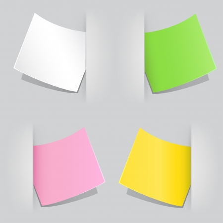 planing: The colored sheet of paper popped as reminder in the gray background
