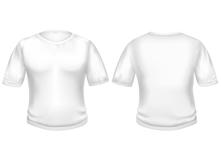 The white t-shirt isolated on the white background, for your creativity  drawings, logos, text, etc  Stock Vector - 21742880