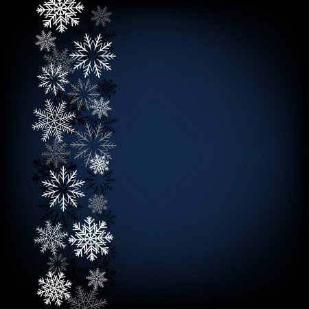 Dark Christmas background of snow for design greeting materials
