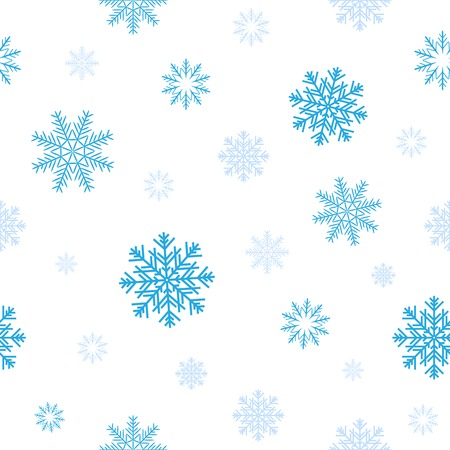 random: Blue snow patern for background texture on a winter theme Illustration