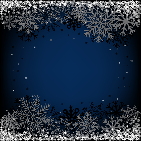 Dark blue Christmas snow background on a winter theme Stock Vector - 23643542