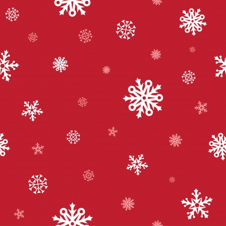 White snow and red background patern for texture on a winter theme Stock Vector - 23643568