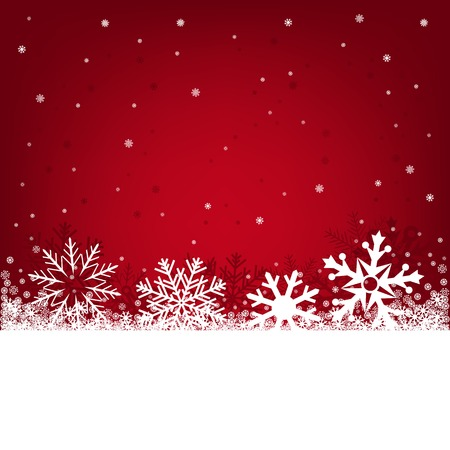 Red Christmas background on a winter theme with a beautiful falling snow Stock Vector - 23643574