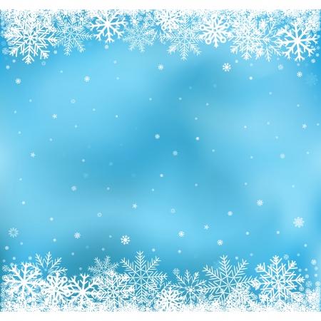 prázdniny: Bílý sníh na modrém pozadí ok, zimní a Cristmas téma