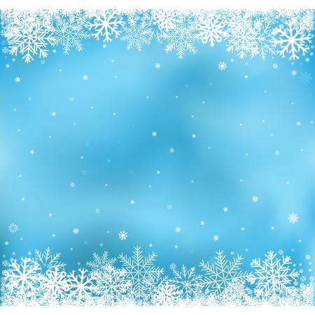 snowflake background: The white snow on the blue mesh background, winter and Cristmas theme