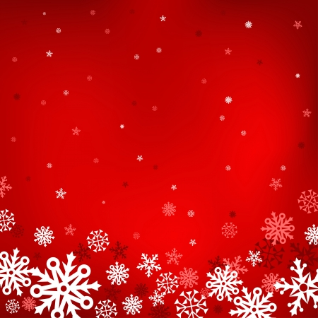 The white snow on the red mesh background, winter and Cristmas theme Vector