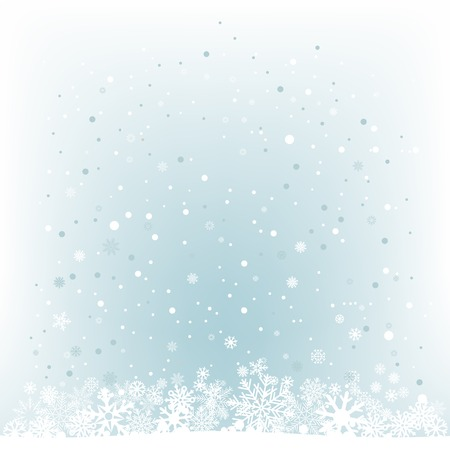 The white snow on the cerulean mesh background, winter theme.  Vector