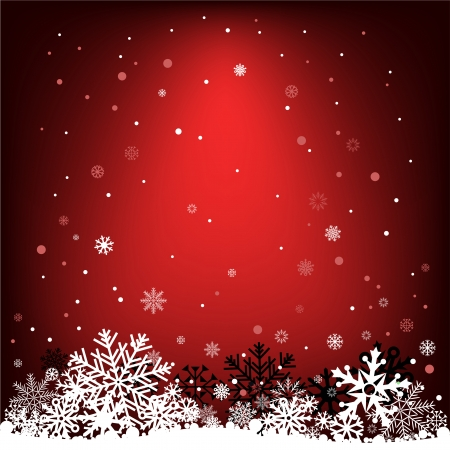 The white snow on the dark red mesh background, winter theme. Stock Vector - 23828637