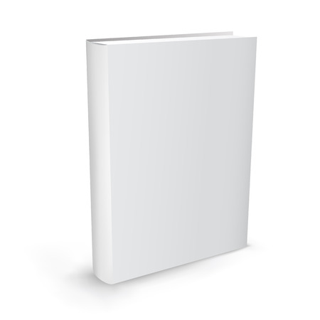 book cover: The white realistic book isolated on the white background