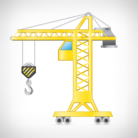counterbalance: The crane isolated on the white background Illustration